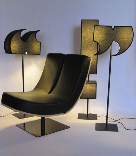 创意字母座椅打造个性私人空间聚焦透镜